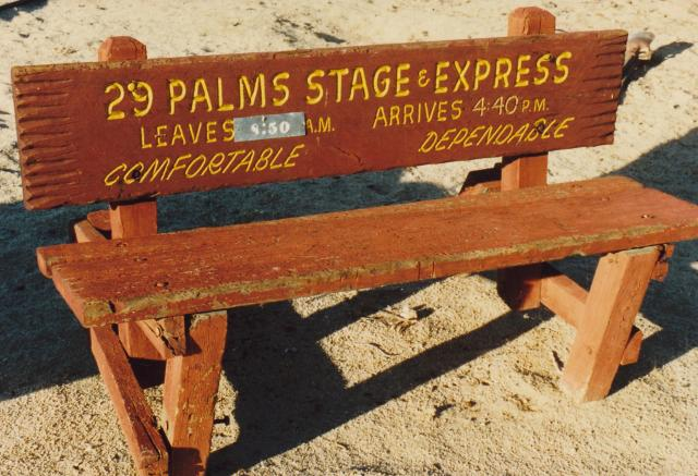Desert Stage bus bench