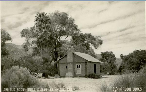 The Old Adobe at the Oasis of Mara 29 Palms c. 1940