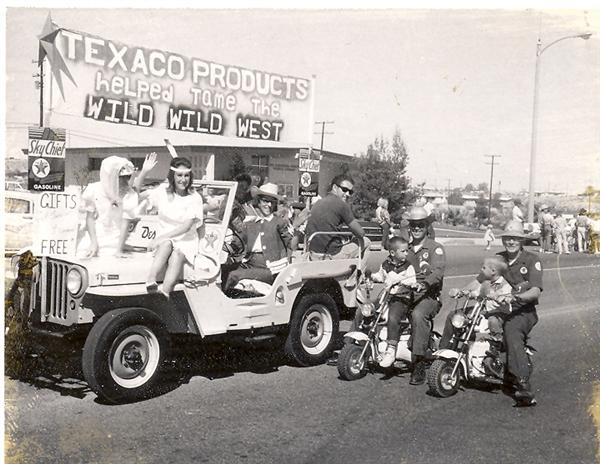 Pioneer Days Parade - Texaco Float circa 1960s